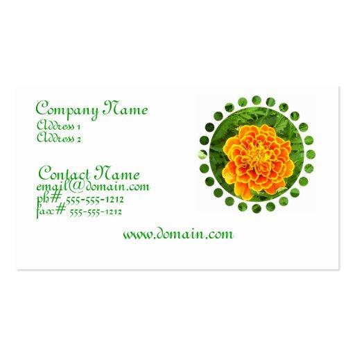 Orange Marigold Business Card
