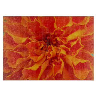 Orange Marigold Cutting Board