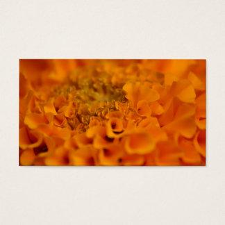 Orange Marigold Flower Business Card
