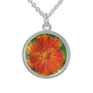 Orange Marigold Pendant