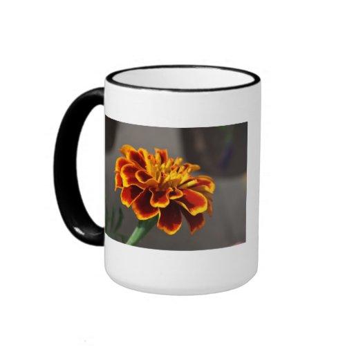 Orange Marigold Ringer Mug
