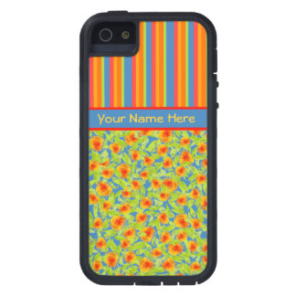 Orange Marigolds, Stripes iPhone 5/5s Xtreme Case iPhone 5 Covers