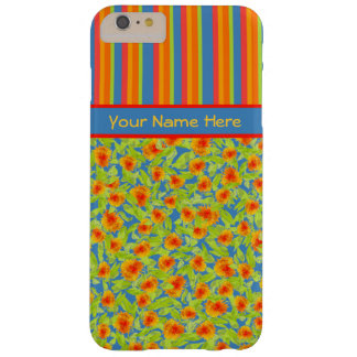 Orange Marigolds, Stripes iPhone 6 Plus Case