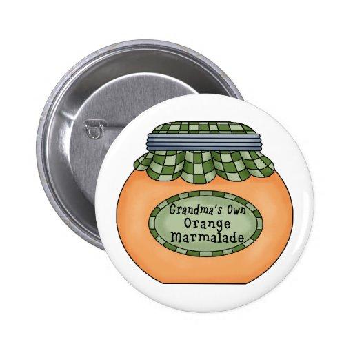 Orange Marmalade Pinback Button