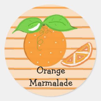 Orange Marmalade Round Sticker