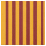 [ Thumbnail: Orange & Maroon Lines Pattern Fabric ]