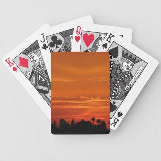 Orange Marrakesh Sunset Bicycle Playing Cards