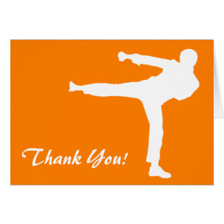 Orange Martial Arts Card