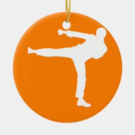 Orange Martial Arts Ceramic Ornament