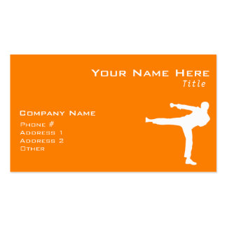 Orange Martial Arts Double-Sided Standard Business Cards (Pack Of 100)