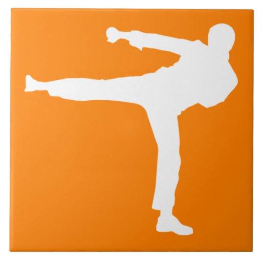 Orange Martial Arts Tiles