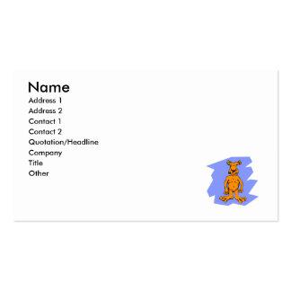 Orange Martian Business Cards