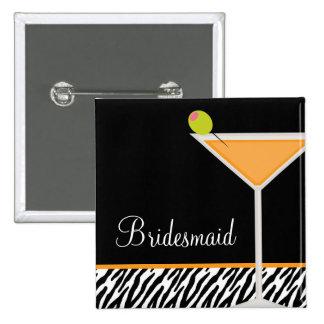 Orange Martini and Zebra Pattern Buttons
