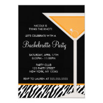 Orange Martini Bachelorette Party Card