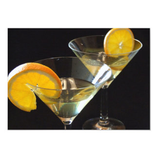 Orange Martini Invitation