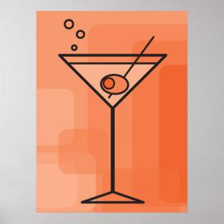 orange martini poster