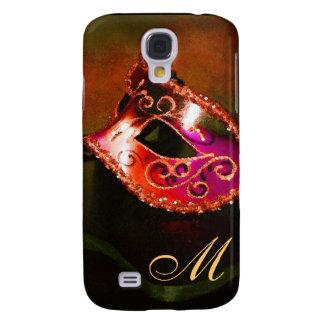 Orange Masquerade Mask 3g  Galaxy S4 Case