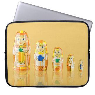 Orange Matryoshka Russian Dolls Laptop Sleeve