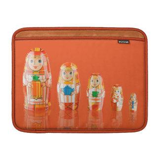 Orange Matryoshka Russian Dolls Macbook Air Sleeve