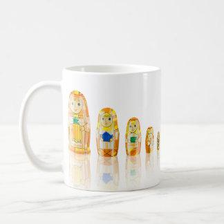 Orange Matryoshka Russian Dolls Mug