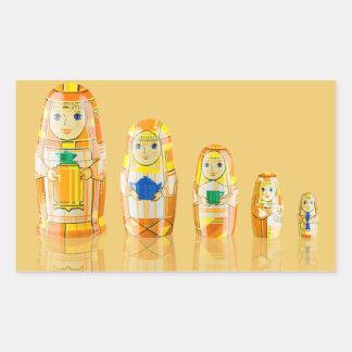 Orange Matryoshka Russian Dolls Stickers