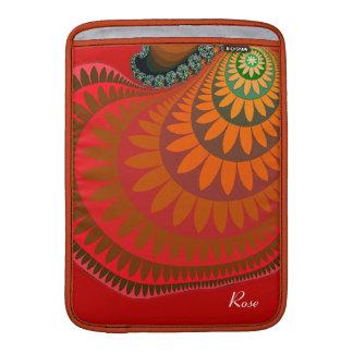 """Orange Mayan Sunflower Macbook Air 13"""" Sleeve MacBook Sleeves"""