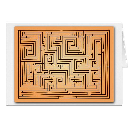 Orange Maze Card