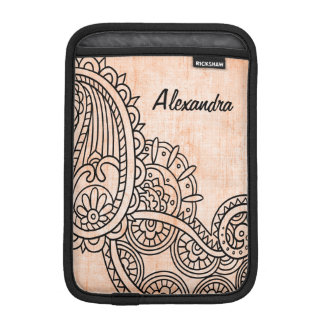 Orange Mehndi Motif iPad Mini Sleeve