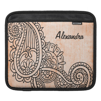 Orange Mehndi Motif iPad Sleeve