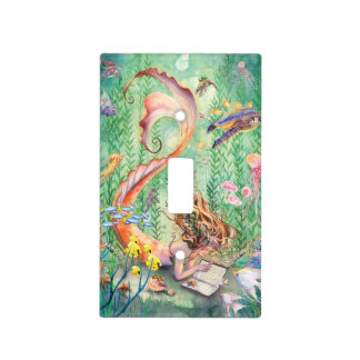 Orange Mermaid Light Cover Switch Plate Cover