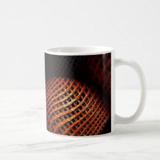 Orange Mesh Abstract Art Mug