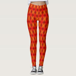 Orange Mesh Leggings