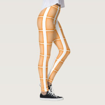 Beach Themed Orange mesh pattern leggings