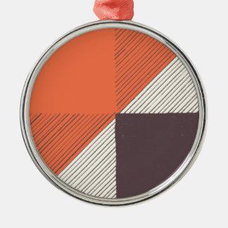 Orange Metal Ornament