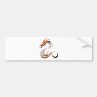 Orange Metallic Dragon Bumper Sticker