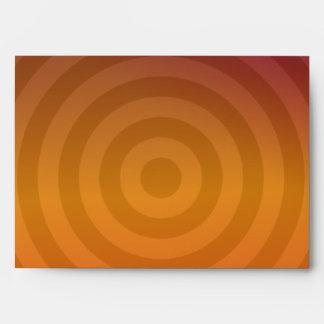 Orange metallic rings envelope