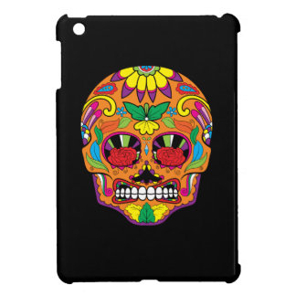 Orange Mexican Tattoo Sugar Skull Red Rose Eyes Case For The iPad Mini