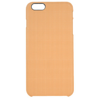 Orange Microdot Patterned Uncommon Clearly™ Deflector iPhone 6 Plus Case