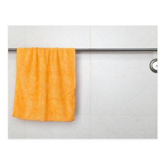 Orange microfiber towel post card