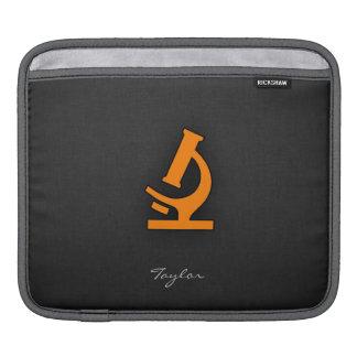 Orange Microscope iPad Sleeves