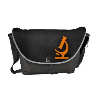 Orange Microscope Messenger Bag