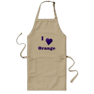 Orange -- Midnight Blue Long Apron