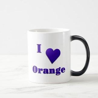 Orange -- Midnight Blue Magic Mug