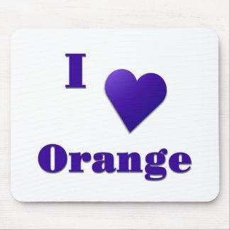 Orange -- Midnight Blue Mouse Pad