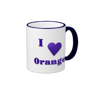 Orange -- Midnight Blue Ringer Mug
