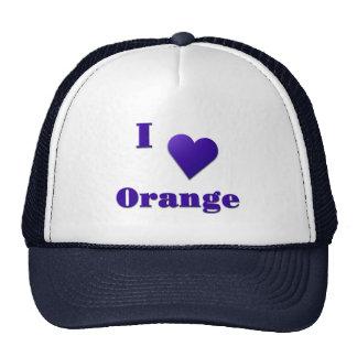 Orange -- Midnight Blue Trucker Hat