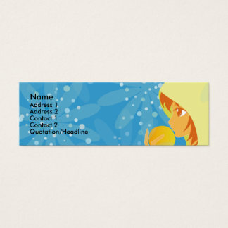 orange mini business card