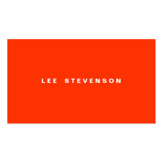 Orange Minimalistic Business Card