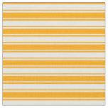 [ Thumbnail: Orange & Mint Cream Colored Stripes/Lines Pattern Fabric ]