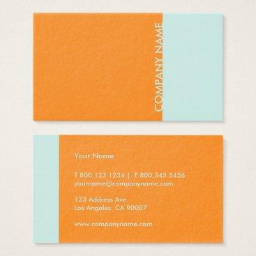 Professional Business Orange Mint Modern Business Card